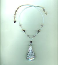 Lavender Swirled Glass Pendant Necklace: Simple Elegance