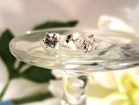 Genuine White Topaz Stud Earrings Sterling Silver Post Earrings
