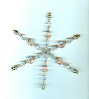 Copper and Clear Glass Snowflake Holiday Tree Ornament